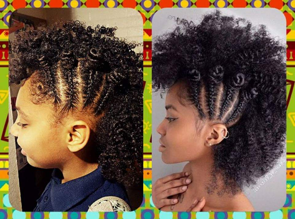 Side Braid Faux Hawk With Bantu Knots @enanitaverd – Black Hair Intended For Black Braided Faux Hawk Hairstyles (View 25 of 25)