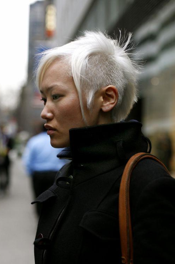 Stunning Bleached Mohawk Hairstyle   Short Asian Hairstyles With Stunning Silver Mohawk Hairstyles (View 4 of 25)