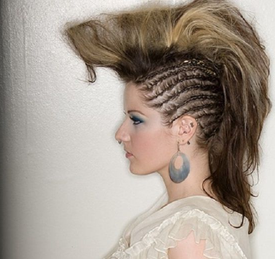 Styling Ideas For A Mohawk Long Hair | Women Hairstyles Ideas In Mini Braided Babe Mohawk Hairstyles (View 21 of 25)