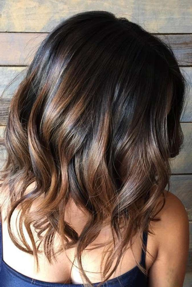 Subtle Balayage Lob | Hair Dye | Pinterest | Hair, Balayage Hair And Pertaining To Most Recently Caramel Lob Hairstyles With Delicate Layers (View 14 of 25)