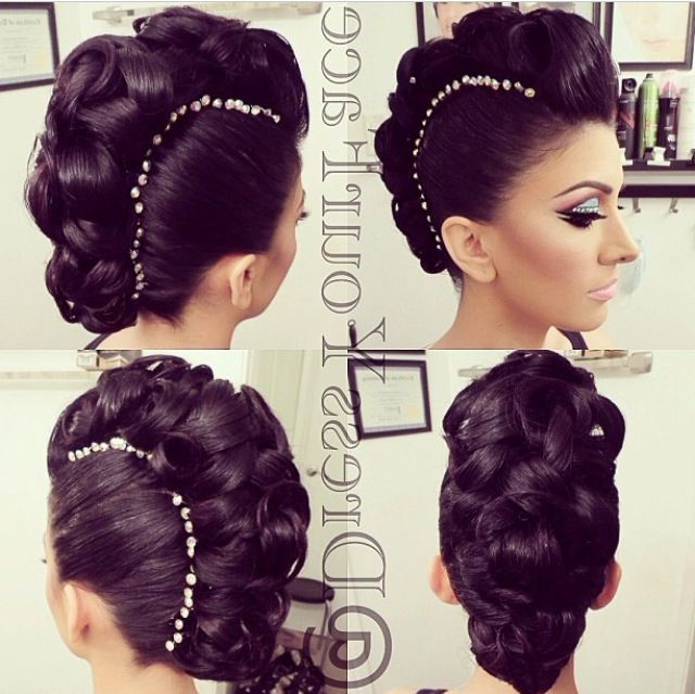 Tamanna Roashan(@dressyourface) – Instagram Photos And Videos   Hair Inside Cool Mohawk Updo Hairstyles (View 4 of 25)