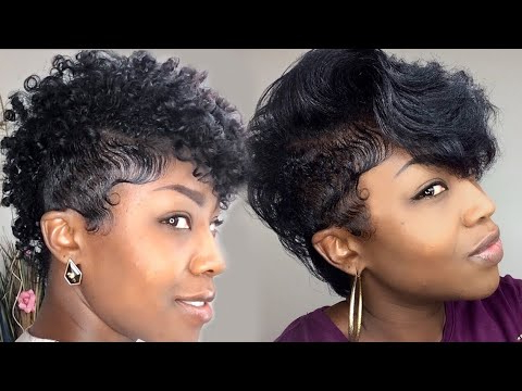Tapered Versatile Natural Mohawk{Straight Vs Curly} – Youtube Pertaining To Versatile Mohawk Hairstyles (View 14 of 25)