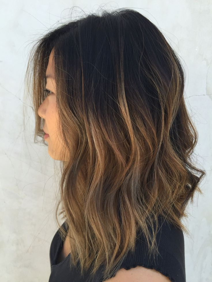 Textured Lob// Caramel Ombre | Hair | Pinterest | Hair, Hair Styles With Regard To Most Popular Caramel Lob Hairstyles With Delicate Layers (View 12 of 25)