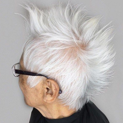 The Best Hairstyles And Haircuts For Women Over 70 | Hair Styles Regarding Steel Colored Mohawk Hairstyles (View 13 of 25)