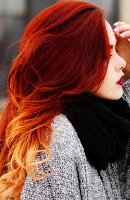 The Most Gorgeous Red Ombre Hair Ideas For Fiery Ladies Throughout Current Medium Haircuts With Fiery Ombre Layers (View 24 of 25)