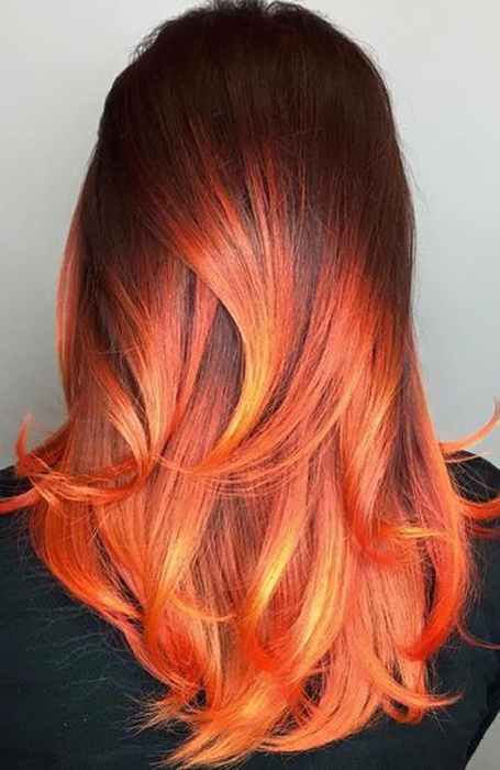 The Most Gorgeous Red Ombre Hair Ideas For Fiery Ladies Within Latest Medium Haircuts With Fiery Ombre Layers (View 25 of 25)