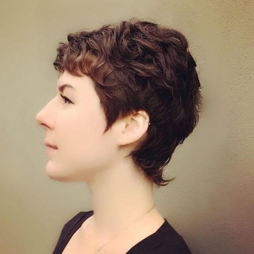 The Short Pixie Cut – 39 Great Haircuts You'll See For 2019 Inside Most Popular Brunette Feathered Bob Hairstyles With Piece Y Bangs (View 8 of 25)