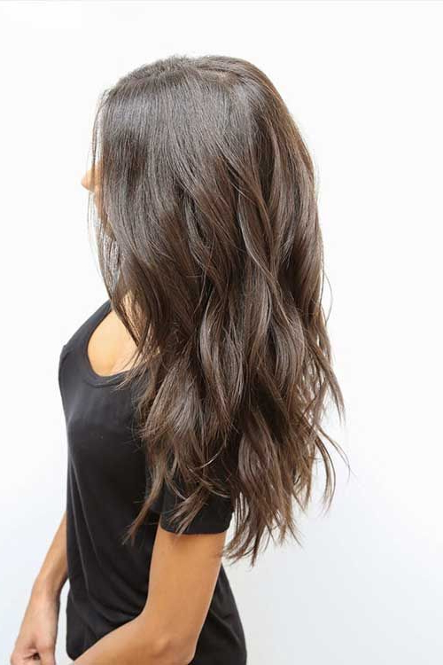Thick Long Hair With Choppy Cuts | Hair Ideas | Hair, Hair Styles Within Best And Newest Thick Longer Haircuts With Textured Ends (View 5 of 25)