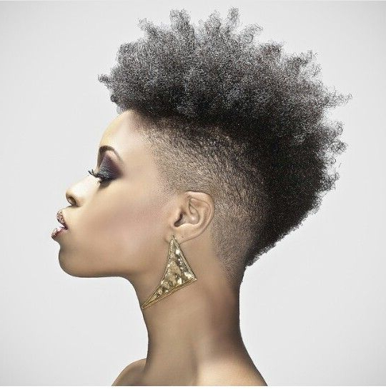 This!!! Natural Hair Mohawk! … | Natural Hair Styles | Pinte… Intended For Curl–Accentuating Mohawk Hairstyles (View 4 of 25)