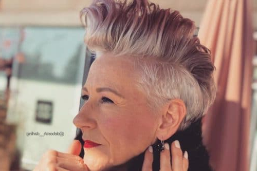 Top 36 Short Blonde Hair Ideas For A Chic Look In 2019 In Steel Colored Mohawk Hairstyles (View 24 of 25)
