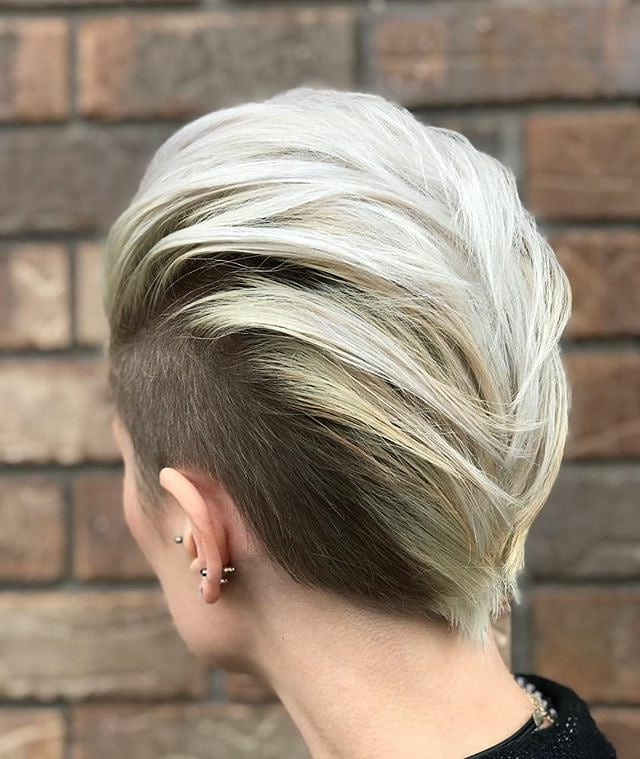 Top Ten Trendy Short Straight Hairstyles, Women Short Haircut Ideas 2019 Throughout Bleached Feminine Mohawk Hairstyles (View 23 of 25)