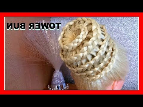 Tower Lace Bun Hairstyle / Hairglamour Styles / Braids Hair Tutorial With Regard To Braided Tower Mohawk Hairstyles (View 13 of 25)
