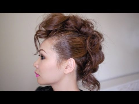 Trendy Mohawk Hairstyle Tutorial – Youtube In Retro Pop Can Updo Faux Hawk Hairstyles (View 9 of 25)