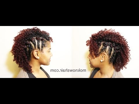 Two Strand Twisted Mohawk – Youtube Pertaining To Twist Curl Mohawk Hairstyles (View 8 of 25)