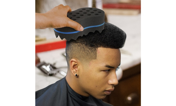 Up To 60% Off On Sponge Hair Brush For Afros | Groupon Goods With Ride The Wave Mohawk Hairstyles (View 12 of 25)