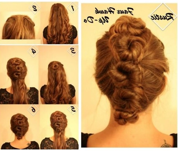 Updo Hairstyles For Homecoming: Faux Hawk Updos Tutorial – Popular Within Unique Updo Faux Hawk Hairstyles (View 10 of 25)