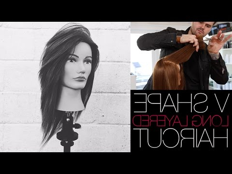 V Shaped Haircut – How To Cut A Long Layered V Shape Haircut | Matt With Regard To 2018 Shoulder Length Haircuts With Long V Layers (View 14 of 25)