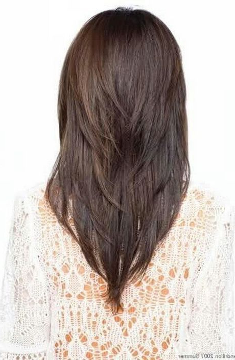 V Shaped Layered Haircut | Hair | Pinterest | Hair, Hair Styles And Regarding Most Up To Date Shoulder Length Haircuts With Long V Layers (View 2 of 25)