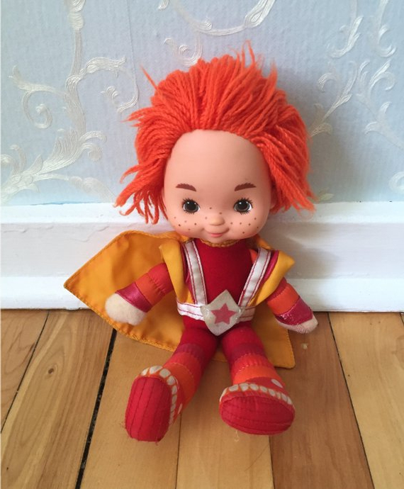 Vintage 1980S Rainbow Brite Red Butler Doll | Etsy Inside Rainbow Bright Mohawk Hairstyles (View 23 of 25)