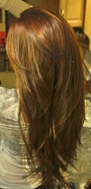 Wanna Get My Hair Cut Like This :) V Shape Cut With Layers | Hair For Best And Newest V Cut Layers Hairstyles For Thick Hair (View 2 of 25)