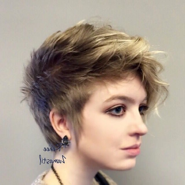 Wavy Pixie Faux Hawk | Short Hair | Hair, Hair Styles, Faux Hawk Throughout Pink Pixie Princess Faux Hawk Hairstyles (View 15 of 25)
