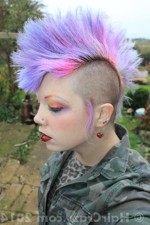 Wolyboly's Multi Coloured Hair – Haircrazy With Pink And Purple Mohawk Hairstyles (View 4 of 25)