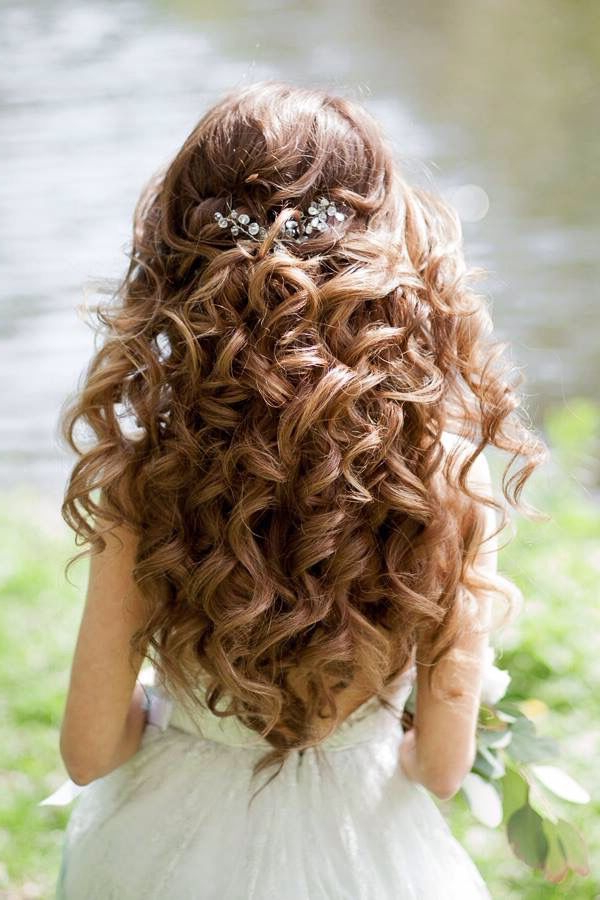 1 Favorite Hair | Quincenera Hair | Wedding Hairstyles, Hair Styles Throughout Half Up Curls Hairstyles For Wedding (View 15 of 25)