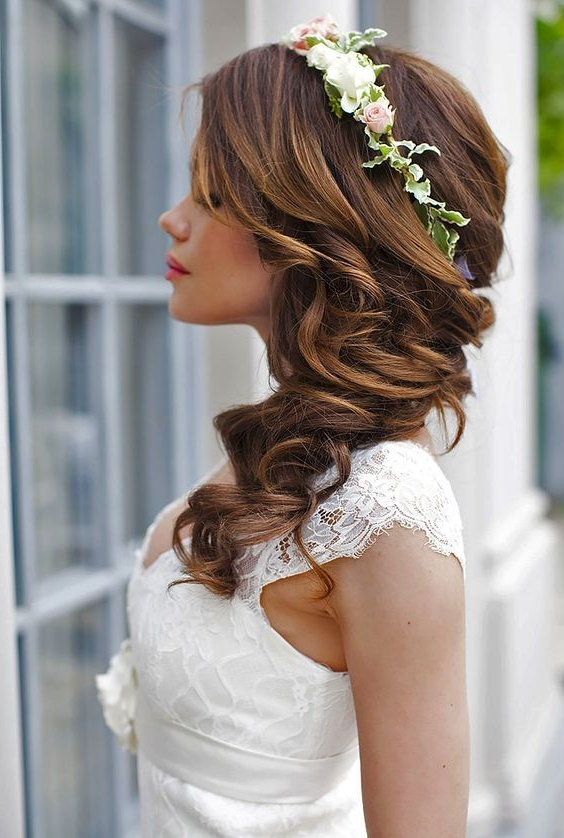 10 Beautiful Wedding Hairstyles For Brides – Femininity Bridal Regarding Pinned Back Tousled Waves Bridal Hairstyles (View 10 of 25)