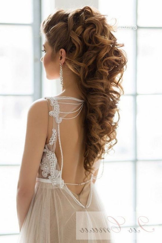 10 Beautiful Wedding Hairstyles For Brides – Femininity Bridal With Regard To Fabulous Cascade Of Loose Curls Bridal Hairstyles (View 23 of 25)