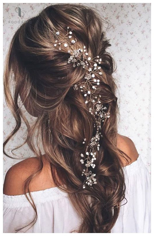 10 Beautiful Wedding Hairstyles For Long Hair L Pink Book Weddings Pertaining To Pearls Bridal Hairstyles (View 14 of 25)