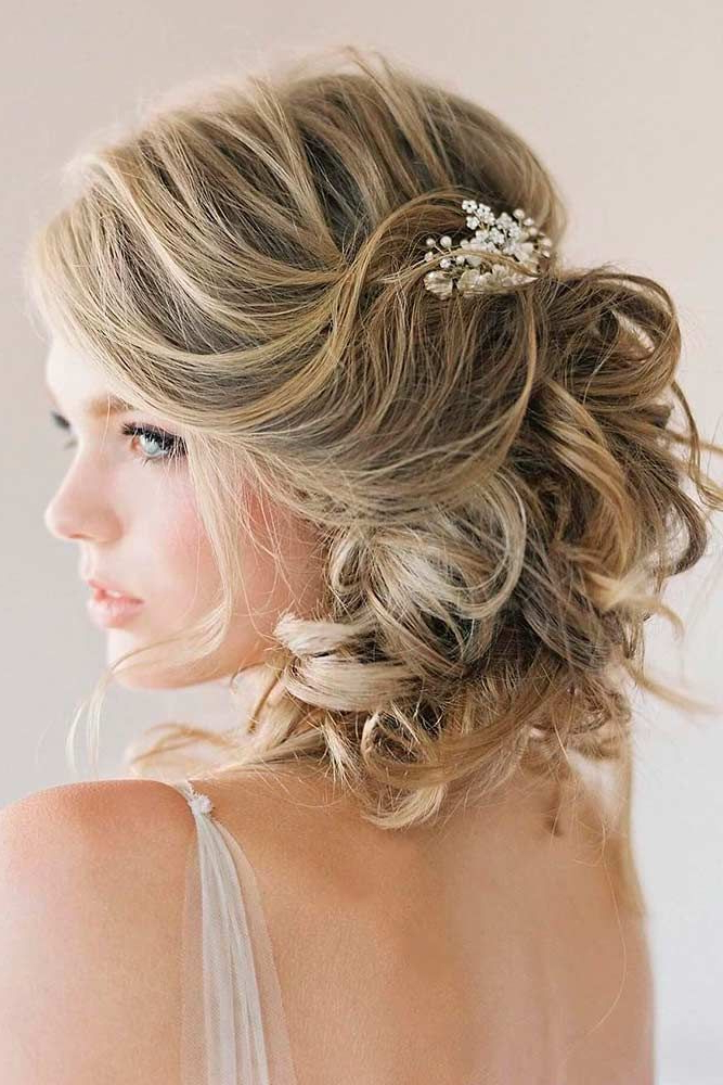 10 Best Short Wedding Hairstyles To Try This Season | Short Pertaining To Pulled Back Layers Bridal Hairstyles With Headband (View 6 of 25)