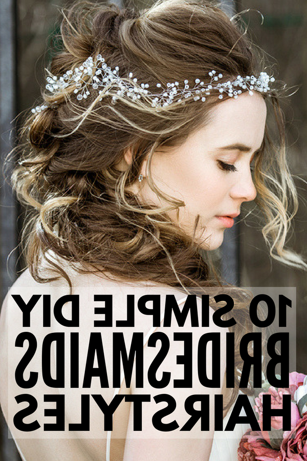 10 Easy Bridesmaid Hairstyles For Long Hair | Meraki Lane Intended For Half Up Wedding Hairstyles With Jeweled Clip (View 19 of 25)