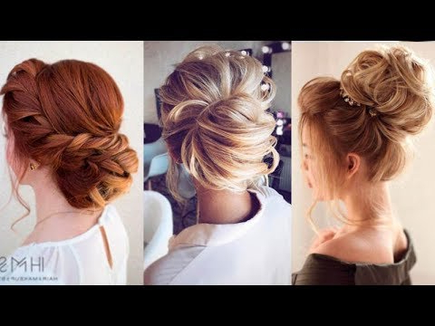 10 Easy Updo Hairstyles For Medium Length Hair In 2018 ? Hair Updo With Regard To Simple And Cute Wedding Hairstyles For Long Hair (View 25 of 25)