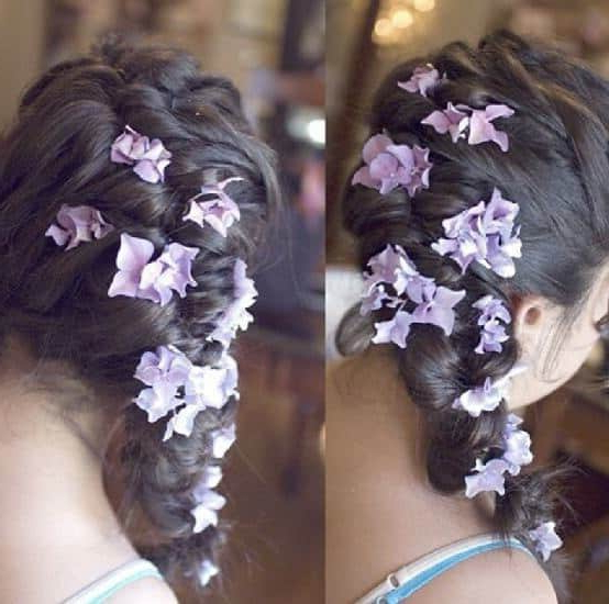 10 Endearing Wedding Hairstyles For Little Girls – Hairstylecamp Regarding Braided Lavender Bridal Hairstyles (View 15 of 25)