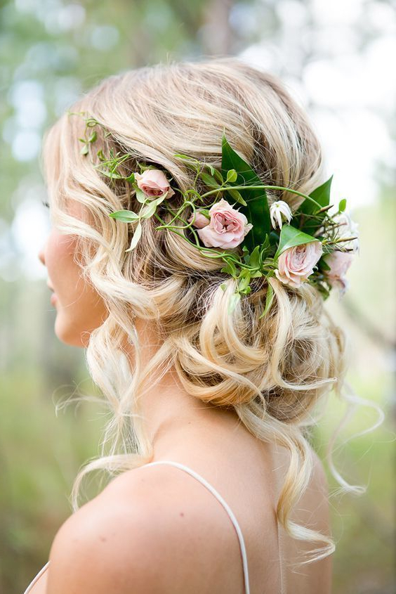 10 Flower Crown Hairstyles For Any Bride – Mywedding Throughout Floral Crown Half Up Half Down Bridal Hairstyles (View 12 of 25)