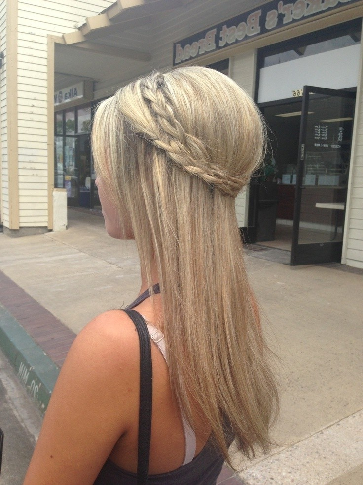 10 Half Up Braid Hairstyles Ideas – Popular Haircuts For Cute Formal Half Updo Hairstyles For Thick Medium Hair (View 23 of 25)