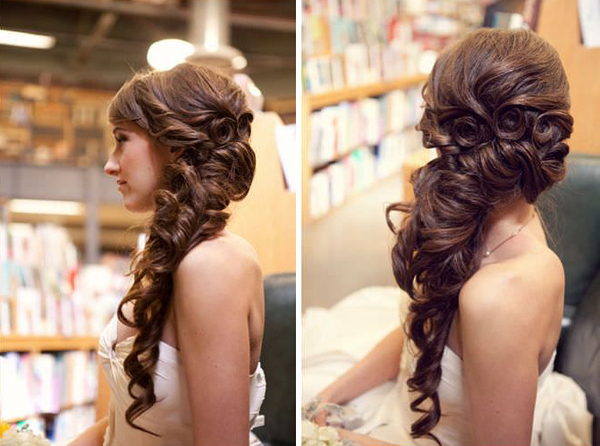 10 Irresistible Bridal Hairstyles For Long Locks – The Pink Bride In Short Side Braid Bridal Hairstyles (View 19 of 25)