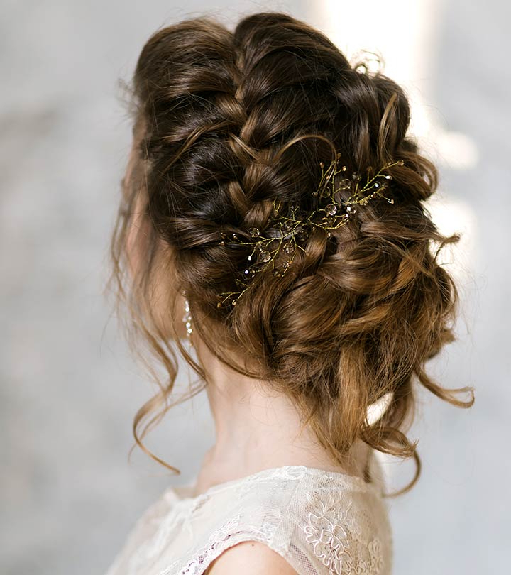 10 New Bridal Hairstyles To Try Today Within Embellished Twisted Bun For Brides (View 12 of 25)