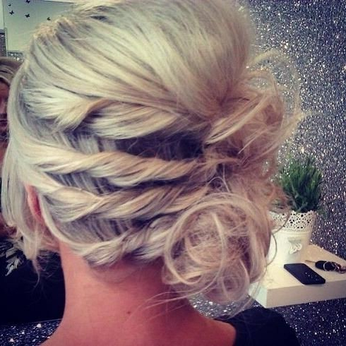10 Pretty French Twist Updo Hairstyles – Popular Haircuts Inside Sleek French Knot Hairstyles With Curls (View 18 of 25)