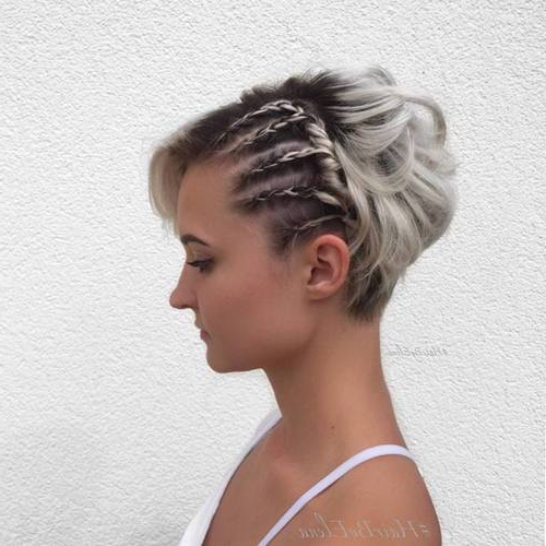 10 Stunning Prom Hairstyles For Short Hair To Try This Season For Tousled Asymmetrical Updo Wedding Hairstyles (View 19 of 25)