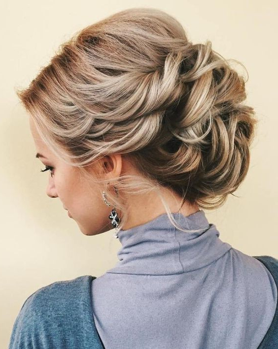 10 Stunning Up Do Hairstyles 2019 – Bun Updo Hairstyle Designs For Women With Wavy And Wispy Blonde Updo Wedding Hairstyles (View 12 of 25)