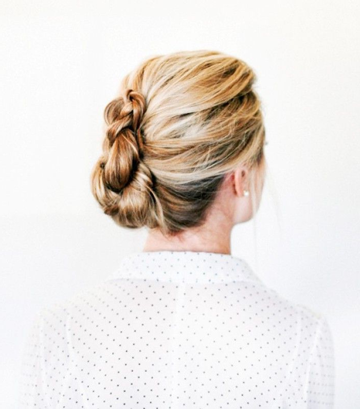10 Wedding Updos That Are Actually Cool | Byrdie Within Loose Updo Wedding Hairstyles With Whipped Curls (View 11 of 25)
