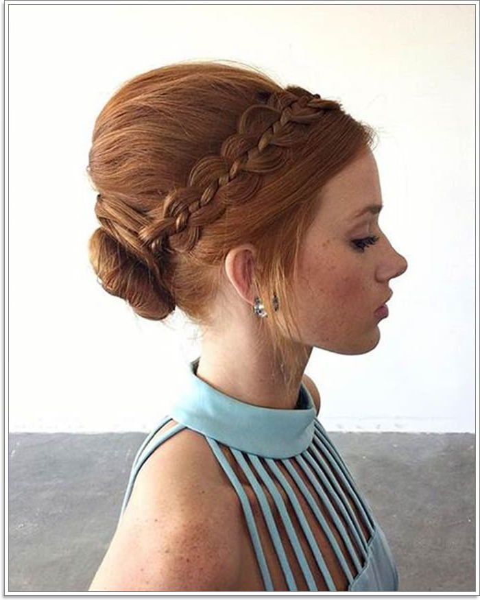 101 Amazing Updos For Short Hair With Regard To Sleek Low Bun Rosy Outlook Wedding Updos (View 24 of 25)