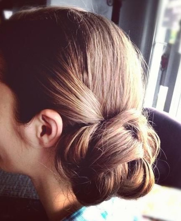 101 Cute & Easy Bun Hairstyles For Long Hair And Medium Hair In Low Twisted Bun Wedding Hairstyles For Long Hair (View 13 of 25)