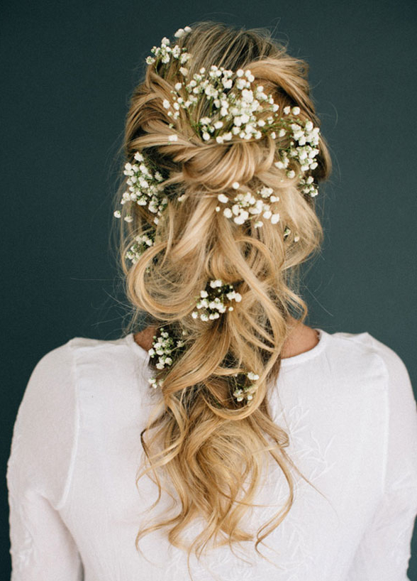 11 Effortlessly Romantic Wedding Hairstyles – Wilkie Within Half Up Wedding Hairstyles With Jeweled Clip (View 23 of 25)
