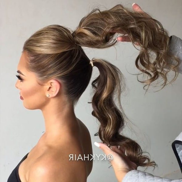 111 Elegant Ponytail Hairstyles For Any Occasion For Fancy Flowing Ponytail Hairstyles For Wedding (View 25 of 25)