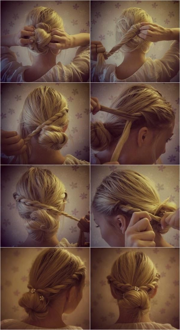 12 Trendy Low Bun Updo Hairstyles Tutorials: Easy Cute – Popular Inside Twisted Low Bun Hairstyles For Wedding (View 19 of 25)