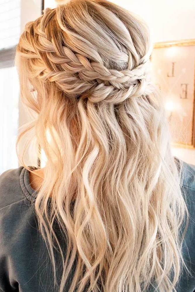 12 Updos For Medium Length Hair | Hair/makeup/nailsetc Throughout Medium Half Up Half Down Bridal Hairstyles With Fancy Knots (View 7 of 25)