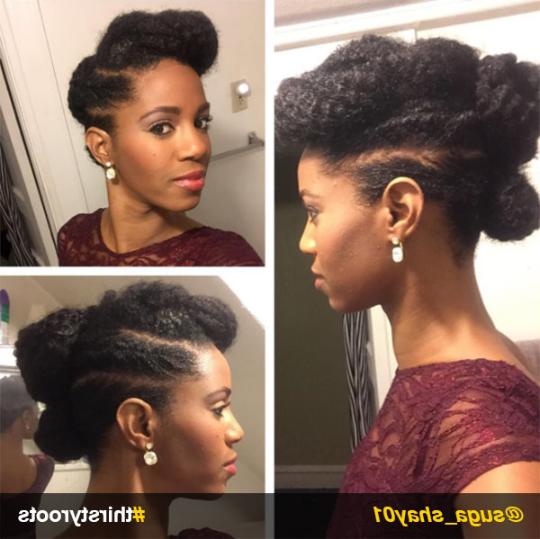 13 Natural Hair Updo Hairstyles You Can Create In Two Toned Twist Updos For Wedding (View 19 of 25)