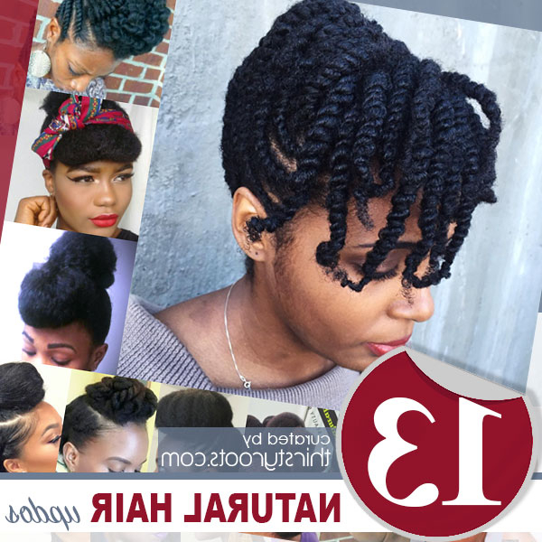 13 Natural Hair Updo Hairstyles You Can Create With Two Toned Twist Updos For Wedding (View 25 of 25)
